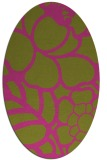 rug #222545 | oval light-green graphic rug