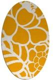 rug #222553   oval light-orange graphic rug