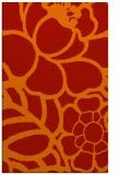 rug #222813 |  orange graphic rug