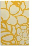 rug #222857 |  yellow graphic rug