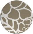 rug #223061 | round mid-brown popular rug