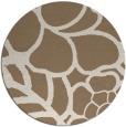 rug #223073 | round mid-brown rug