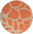 rug #223117 | round beige rug