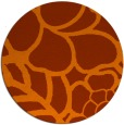 rug #223177 | round red-orange graphic rug