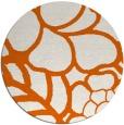 rug #223189 | round red-orange graphic rug