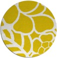 rug #223221 | round yellow graphic rug