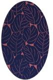 rug #225829 | oval pink natural rug