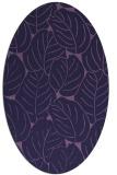 rug #225833 | oval purple rug