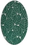rug #225869 | oval blue-green rug