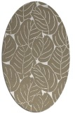rug #225877 | oval mid-brown natural rug