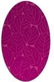 rug #225945 | oval pink rug