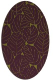 rug #225965 | oval purple natural rug