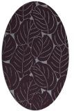 rug #225973   oval purple natural rug