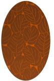 rug #226001 | oval red-orange natural rug