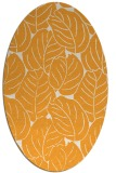 rug #226085 | oval light-orange natural rug