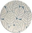 rug #226465 | round blue-green rug