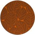 rug #226705 | round red-orange natural rug