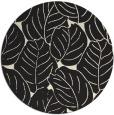 rug #226749 | round black natural rug