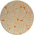rug #226757 | round orange popular rug