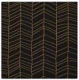 rug #229021 | square black stripes rug