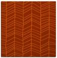 rug #229161   square red-orange stripes rug