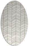 rug #229257 | oval white natural rug