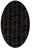 rug #229269 | oval beige stripes rug
