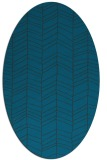 rug #229337 | oval blue-green natural rug