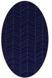 rug #229341 | oval blue-violet stripes rug