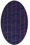 rug #229349 | oval blue-violet stripes rug