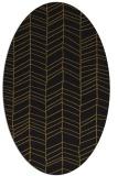 rug #229373 | oval mid-brown stripes rug