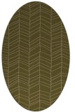 rug #229377 | oval mid-brown stripes rug