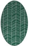 rug #229389 | oval blue-green natural rug