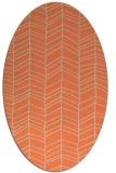 rug #229453 | oval beige stripes rug