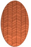 rug #229457 | oval red-orange natural rug