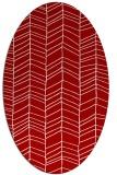 rug #229497   oval red rug