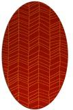 rug #229501 | oval red stripes rug