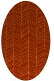 rug #229513   oval red-orange stripes rug