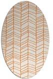 rug #229525 | oval red-orange stripes rug