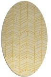 rug #229545 | oval yellow rug