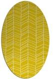 rug #229557 | oval yellow stripes rug