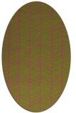 rug #229585 | oval pink natural rug