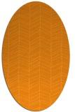 rug #229601 | oval light-orange stripes rug