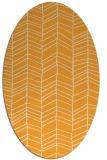 rug #229605 | oval light-orange rug
