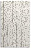rug #229609 |  white stripes rug
