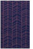 rug #229701 |  blue-violet stripes rug