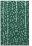 rug #229741 |  blue-green stripes rug