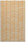 rug #229925 |  orange stripes rug