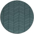rug #230033 | round blue-green stripes rug