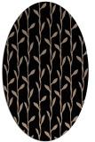 rug #231029 | oval black natural rug